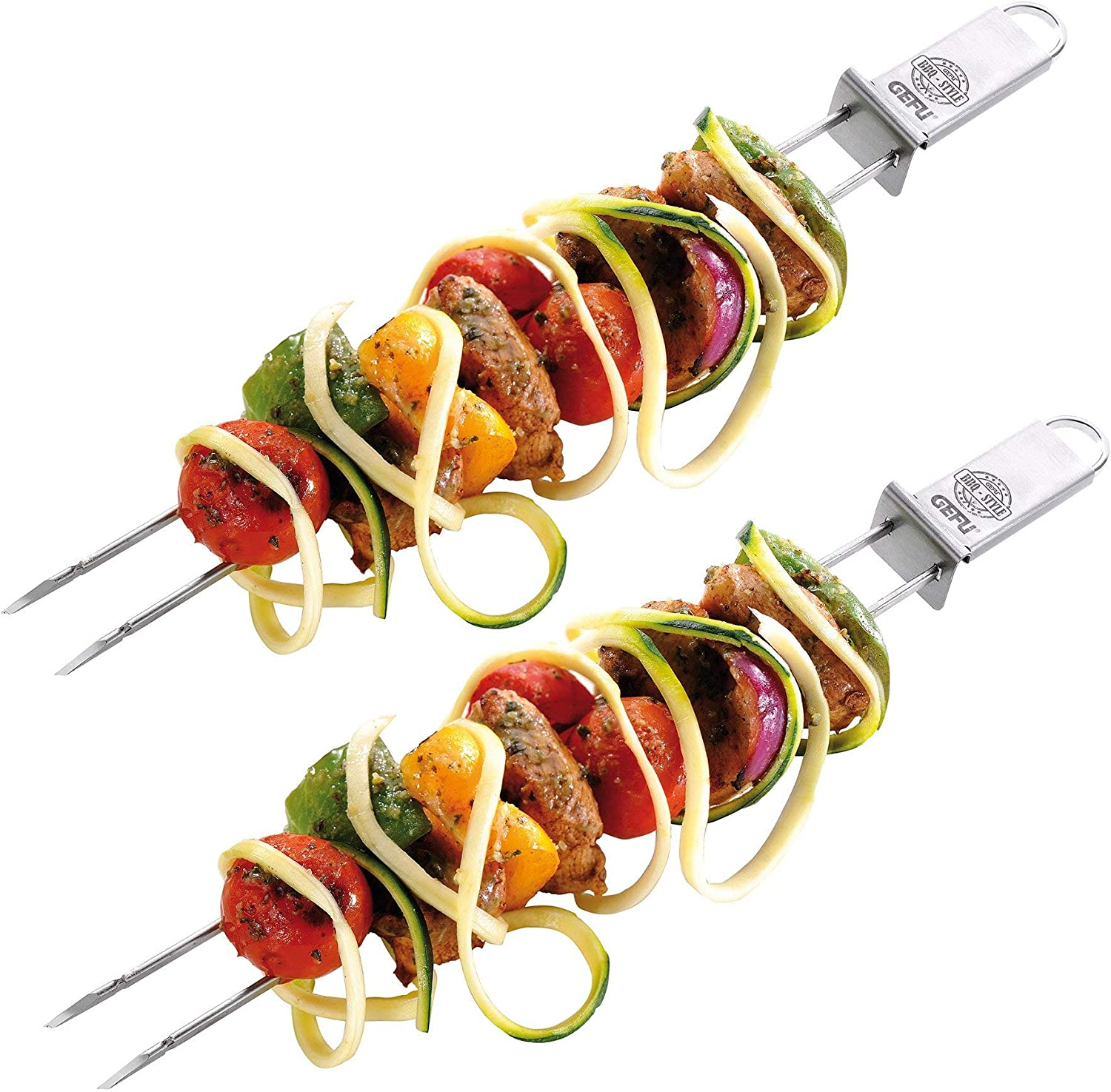 GEFU 15420 Stainless Steel Barbecue skewers Twinco, 2-piece set