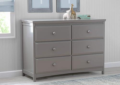 Delta Children Emerson 6 Drawer Dresser, Grey