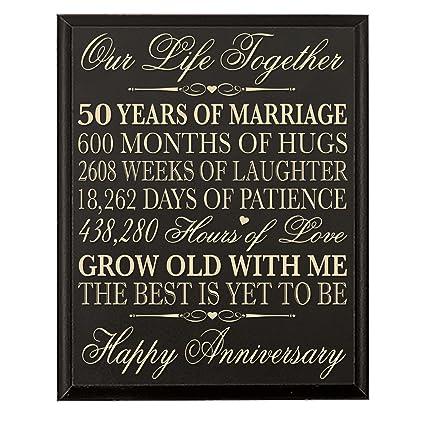 Amazon Lifesong Milestones 50th Wedding Anniversary Wall