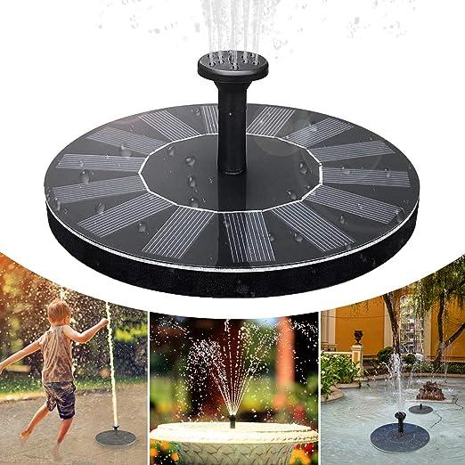 iKALULA Fuente Solar, Bomba Solar para Estanque, Bomba de Agua para Exterior, Ahorro de energía, Bomba para estanques de jardín, depósito de Pescado, Bandeja para pájaros, Estanque pequeño: Amazon.es: Jardín
