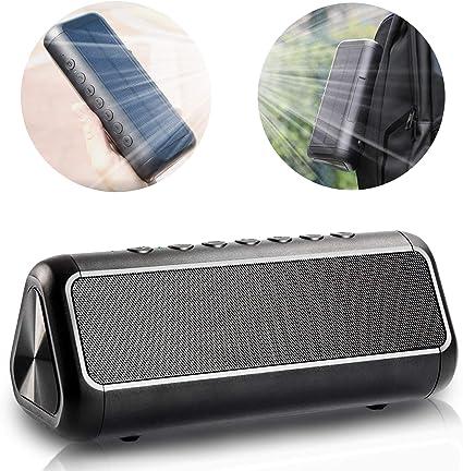 2 pk. Innovative Technology Solar Bluetooth Outdoor Rock Portable Speakers
