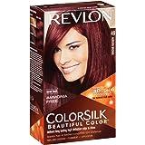 Revlon Coloration permanente Colorsilk Beautiful Color - Couleur radieuse longue tenue - Couleur 49 Brun auburn - 1 application
