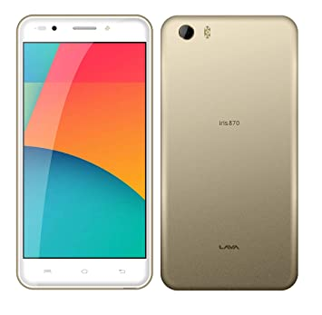 6a7784cd3 Lava Iris 870 Dual SIM - 8GB, 2GB RAM, 4G LTE, Gold: Amazon.ae ...