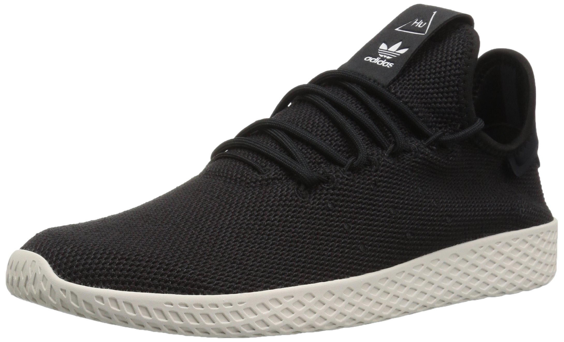 adidas Originals Men's PW HU Tennis Shoe, Black/Black/Chalk White, 10 M US by adidas Originals