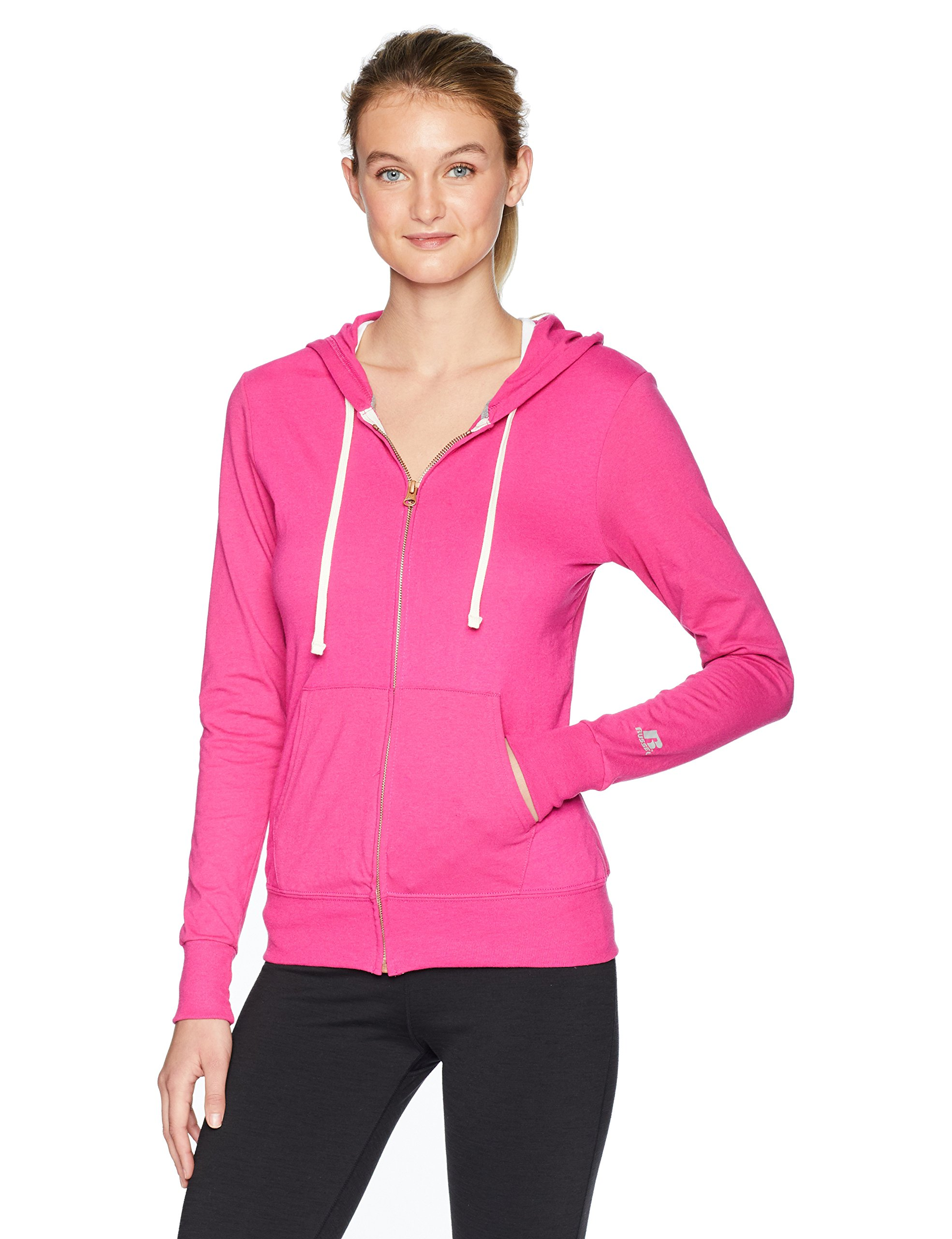 Russell Athletic Women's Essential Full Zip Jacket, Very Berry, Large by Russell Athletic