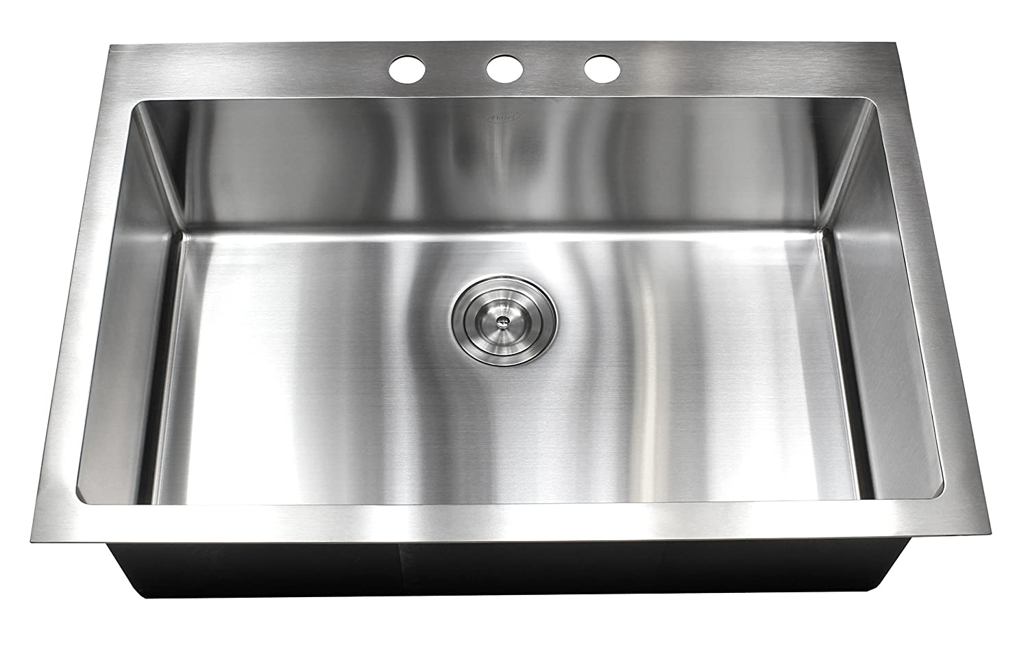 33 Inch Topmount / Drop In Stainless Steel Kitchen Sink Package ...