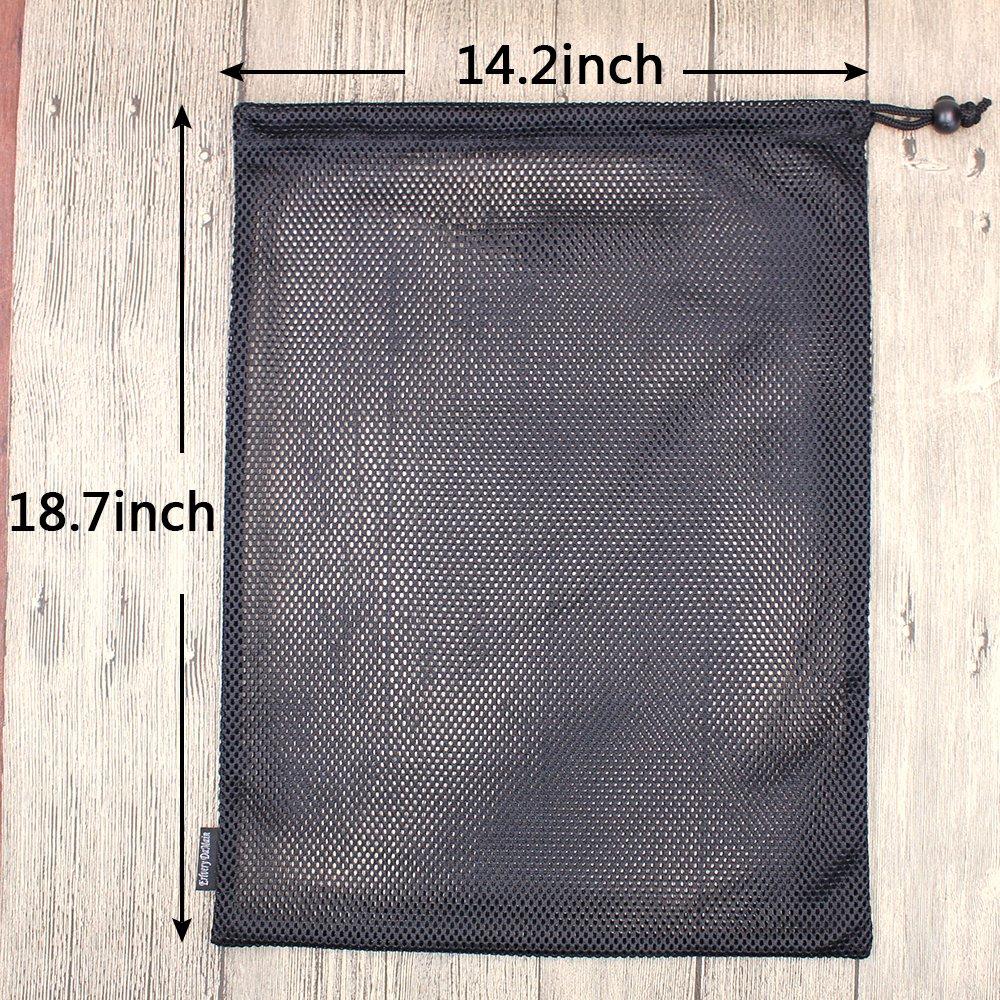 Erlvery DaMain 2pcs Mesh Equipment Bag Drawstring Storage Ditty Bags Stuff Sack for Travel & Outdoor Activity by Erlvery DaMain (Image #2)