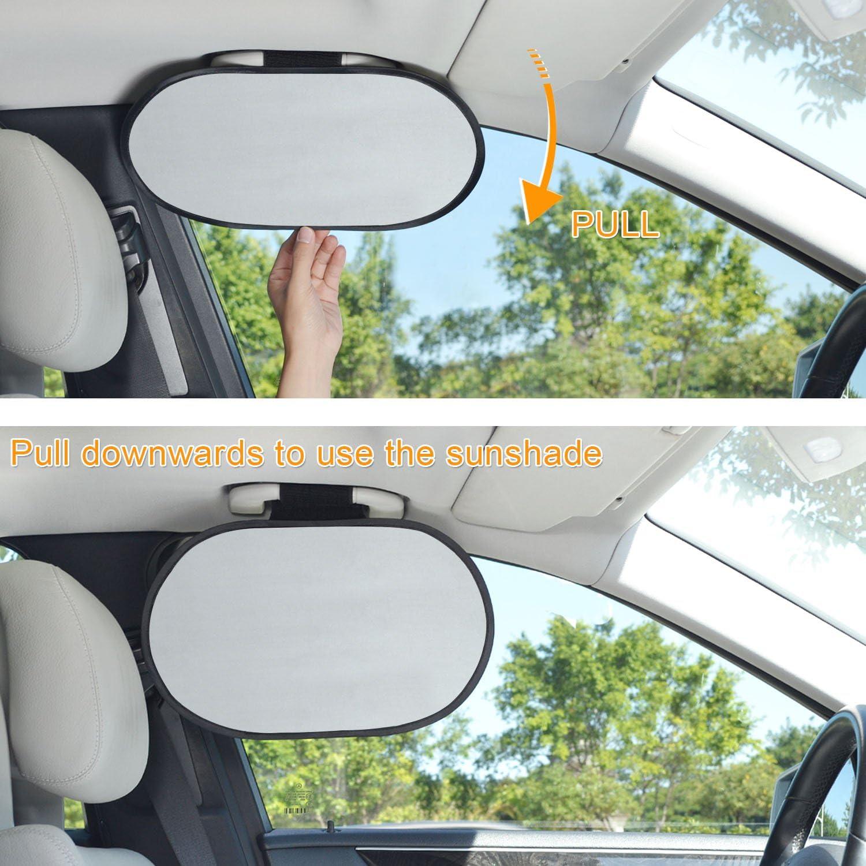 WANPOOL Sombrilla Parasol para el Asa del Techo en el Interior del Coche y Bloqueador Solar para el Conductor