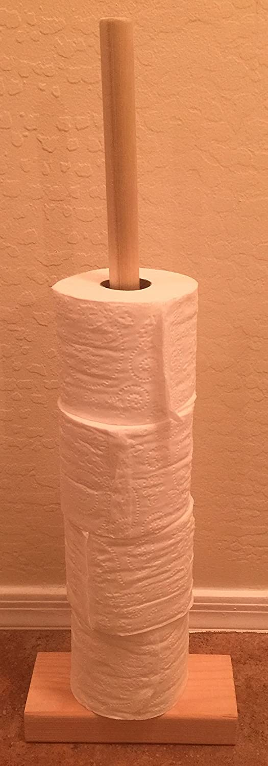 Custom Wooden Toilet Paper Stand