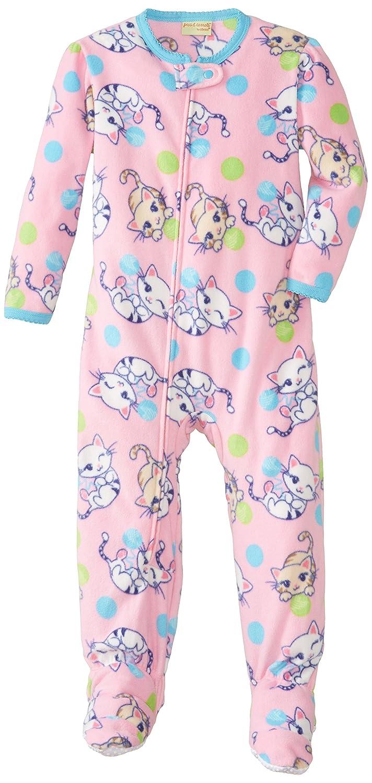 Komar Kids Little Girls' Kitty Fleece Footed Blanket Sleeper Pink 2T Komar Kids Girls 2-6x