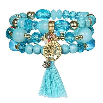 Femme Perle Arbre Pierre De Jewelrywe Vie Bijoux 3 Bracelets Lot jq5SR3ALc4