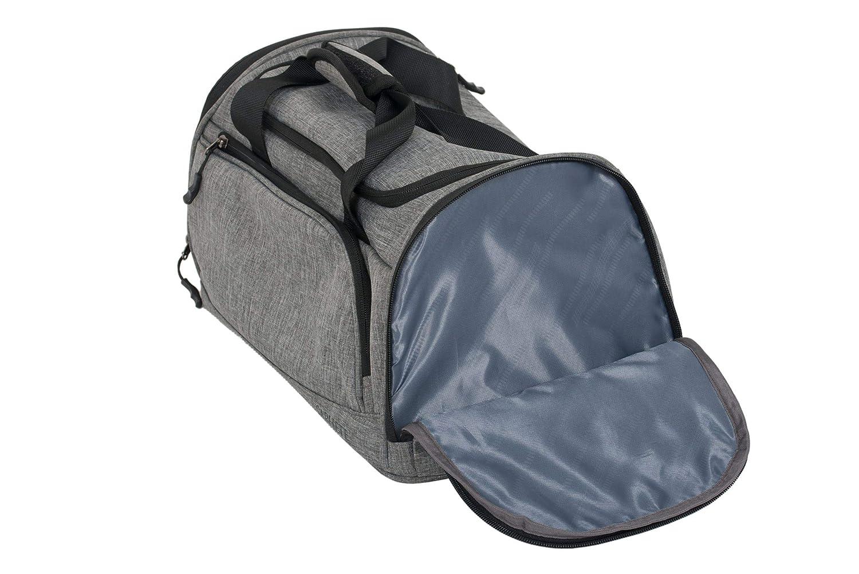 Bolsa de Aseo Ryanair Libre en Cabina o Gimnasio 20 L de Capacidad con Compartimento Separado para Zapatos y Bolsa de PVC de Seguridad de Aeropuerto incluida 40 x 25 x 20