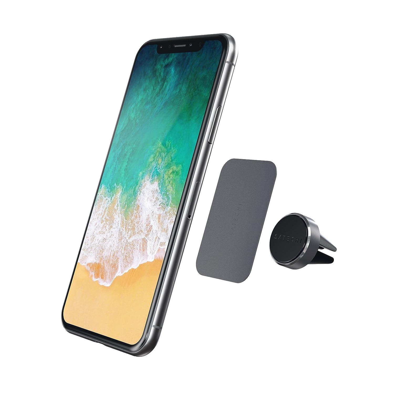 Samsung Galaxy S8//S7 Negro Nexus 5X//6P y m/ás Satechi Soporte Magn/ético Conducto de Aire del Coche Soporte para Coche Montaje de Soporte de Tel/éfono para iPhone X//8 Plus//8//7 Plus//7