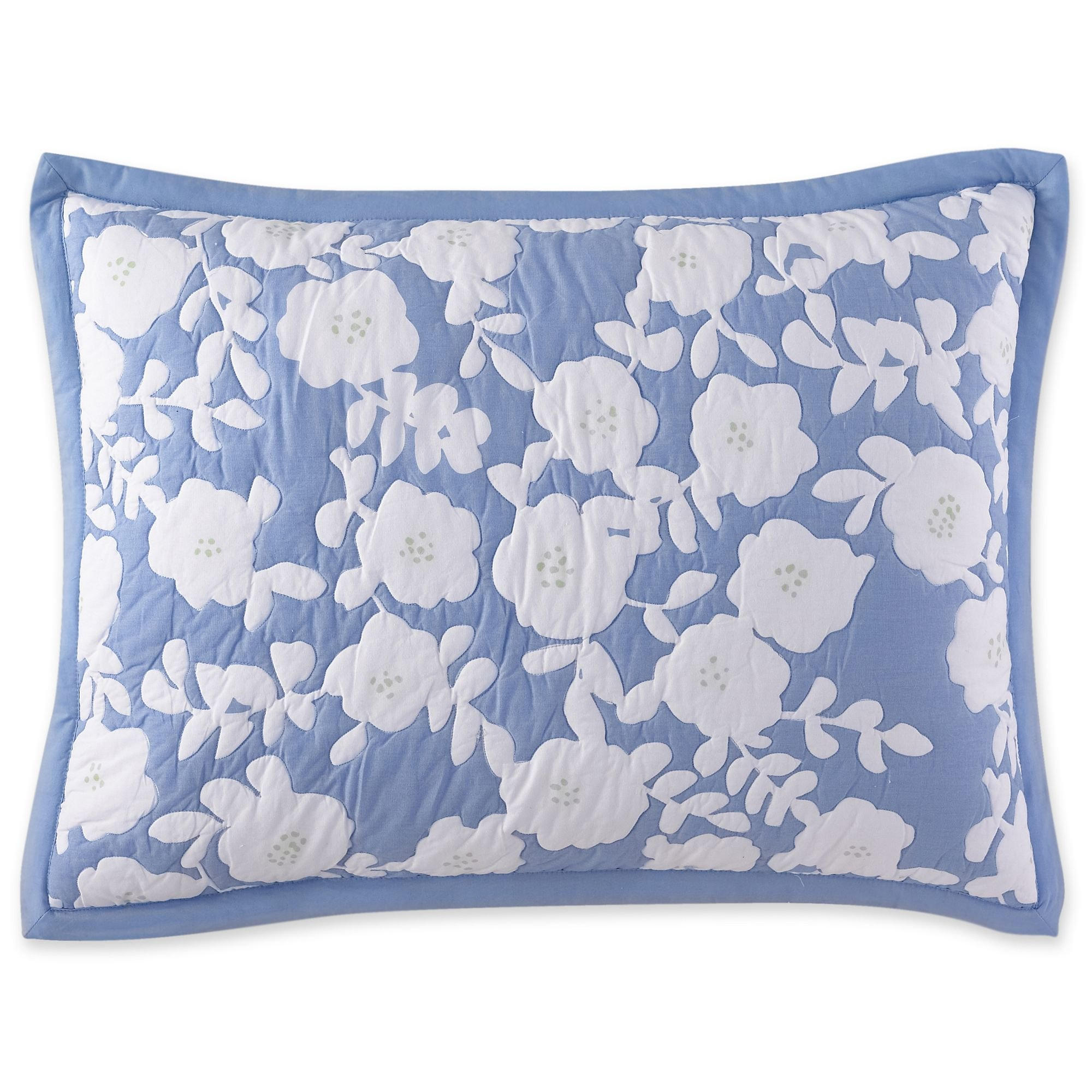 Everyday Standard Sham Poppy Field Blue Multi by Everyday