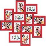 Deknudt Frames S65SV4 Cadre Multi-Photos 12 Ouvertures Rouge 10 x 15