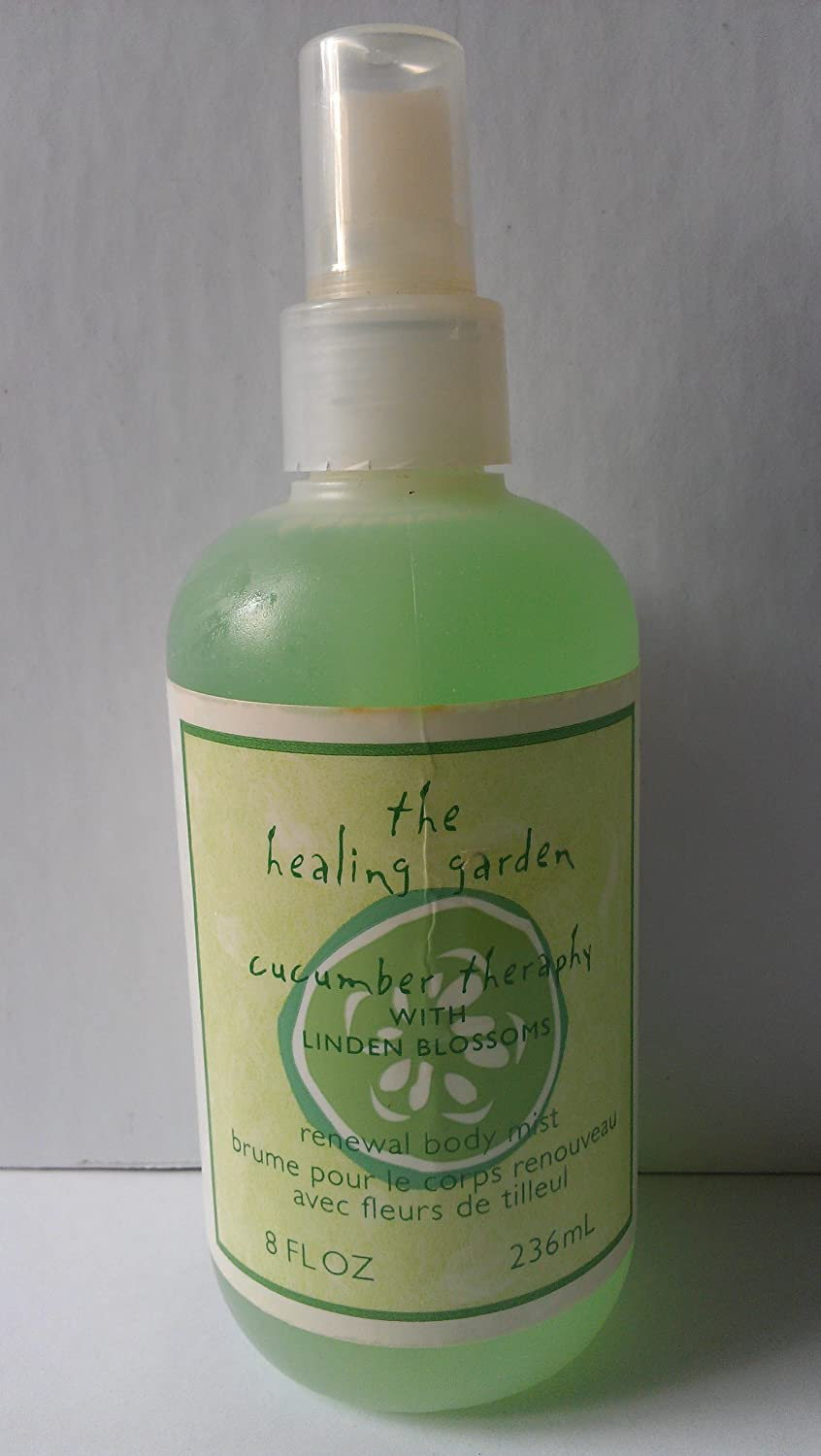 The Healing Garden Cucumber Therapy Renewal Body Mist w/Linden Blossoms 8 oz (2 Pack)