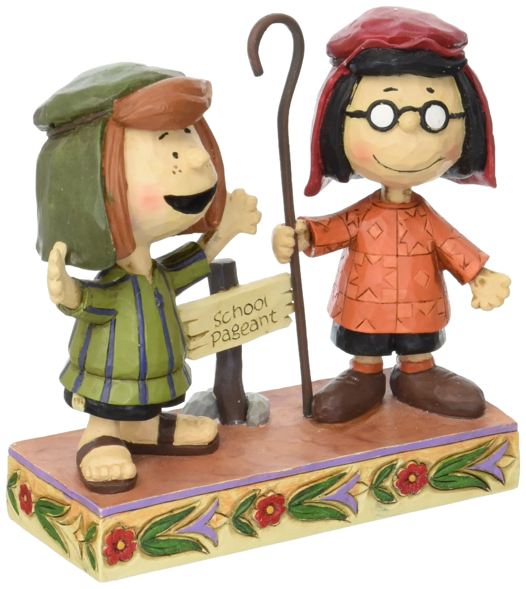 Peanuts by Jim Shore Marcie and Peppermint Patty Stone Resin Figurine, 4.5""