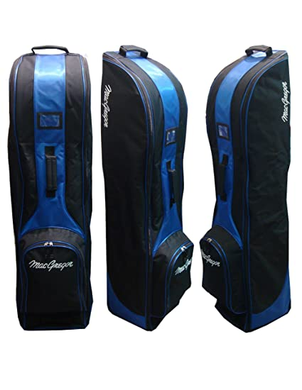 MacGregor Travel Cover Wheeled - Bolsa de carro para palos de golf, color negro/