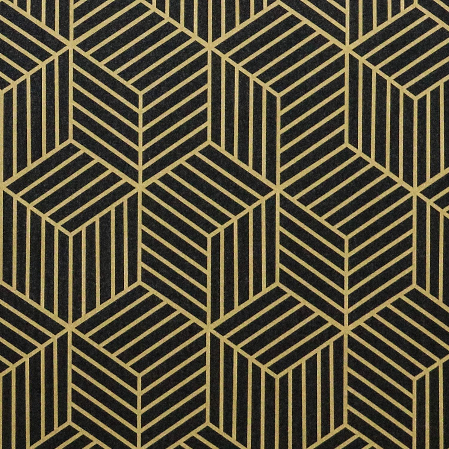17 7 X118 Peel And Stick Wallpaper Black Contact Paper Gold And Black Peel And Stick Wallpaper Geometric Contact Paper Removable Self Adhesive Wallpaper For Wallcovering Shelf Liner Countertop Home Improvement