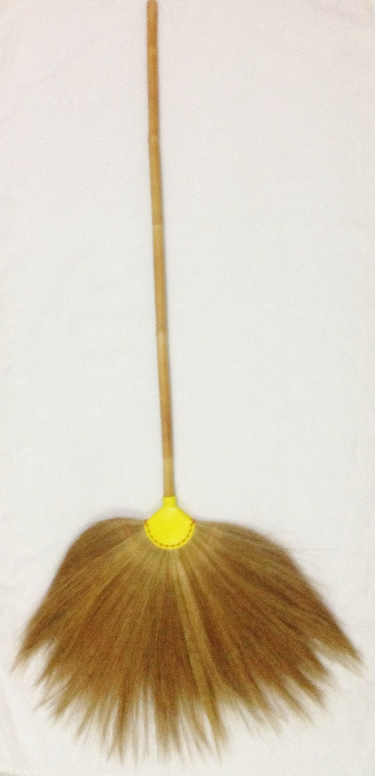 Broom Grass Bamboo Handle Natural Color by Thai OTOP
