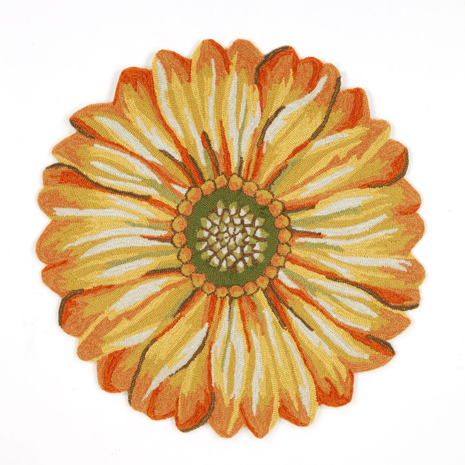 Amazon.com: Liora Manne FT1D5A50209 Whimsy Round Flowers Rug, 5u0027, Yellow:  Kitchen U0026 Dining