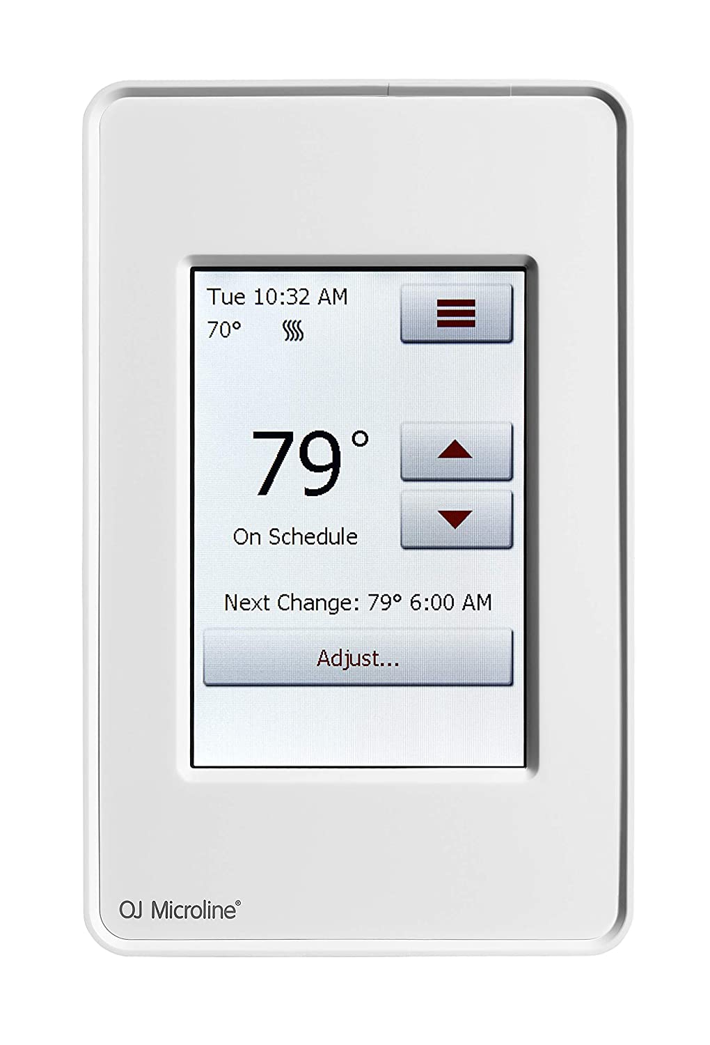 "LuxHeat Home Programmable Dual-Voltage Thermostat With Intuitive 3.5"" Touchscreen Interface. Dual Sensing - Box Includes Air and Floor Sensor For Radiant Under Floor Heating. Class A GFCI"