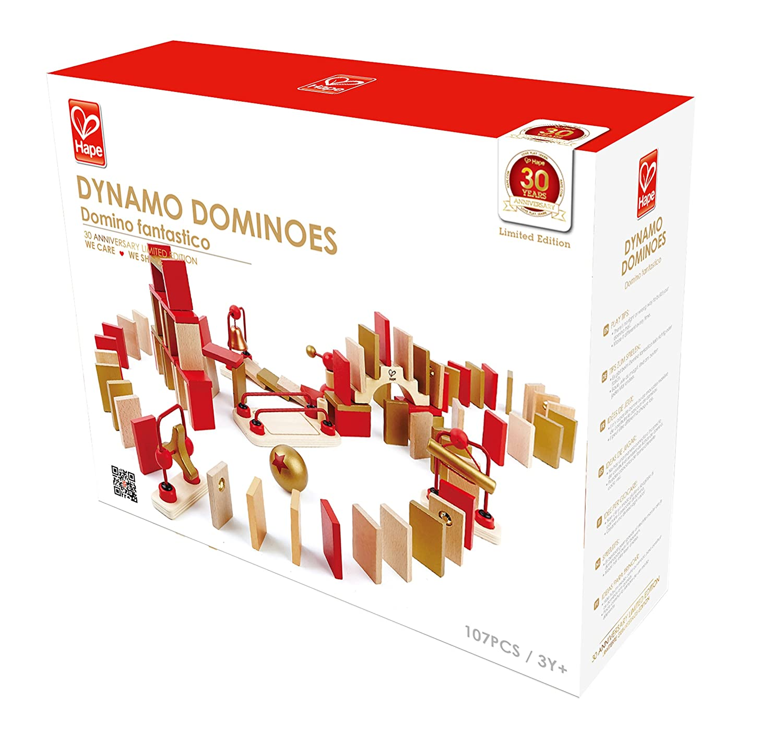Amazon.com: Hape - Dynamo Dominoes Building Kit 30th Anniversary ...