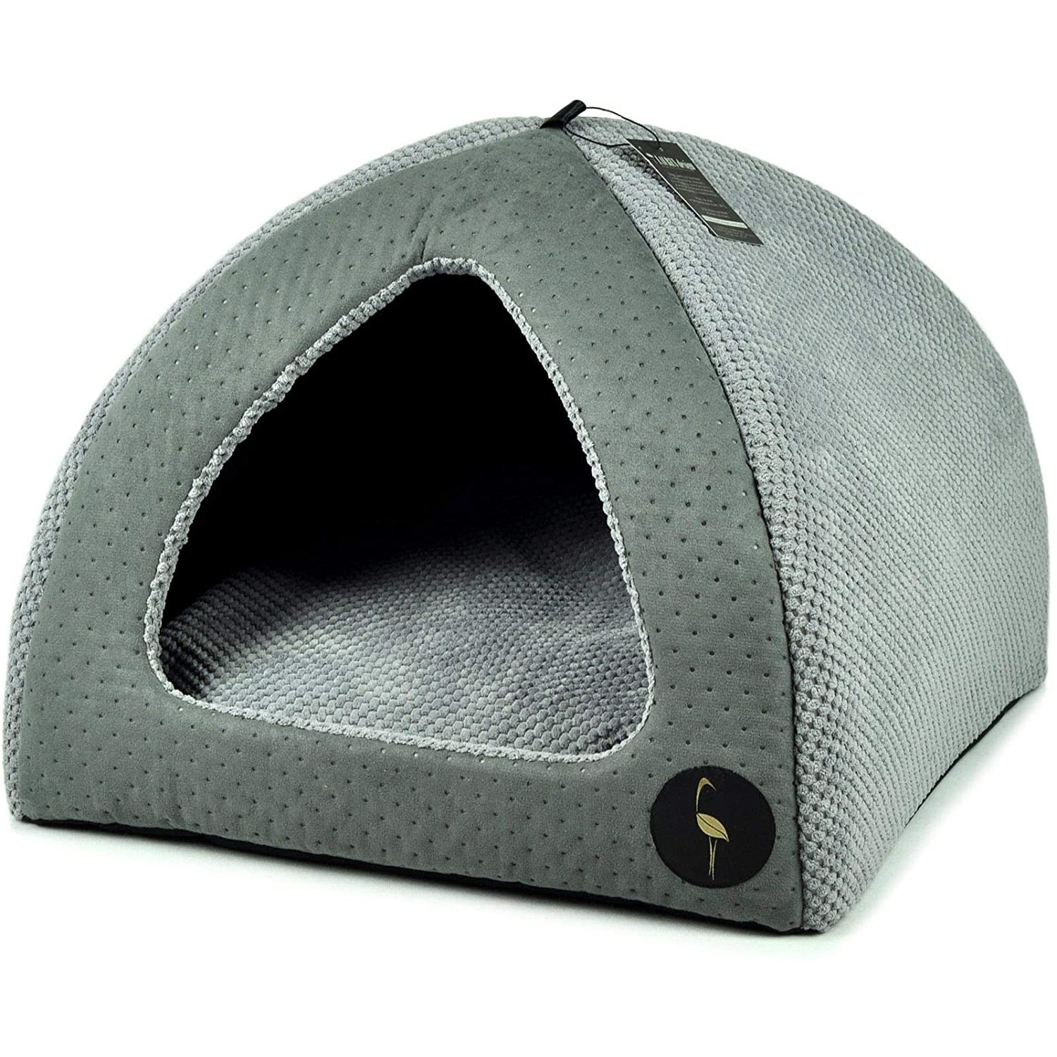 Grey & Grey 50 x 50cm CatCentre Grey & Grey 50 x 50cm UK Pet Cat Puppy Dog Igloo Bed House Pyramid Sofa Cave 2 Sizes