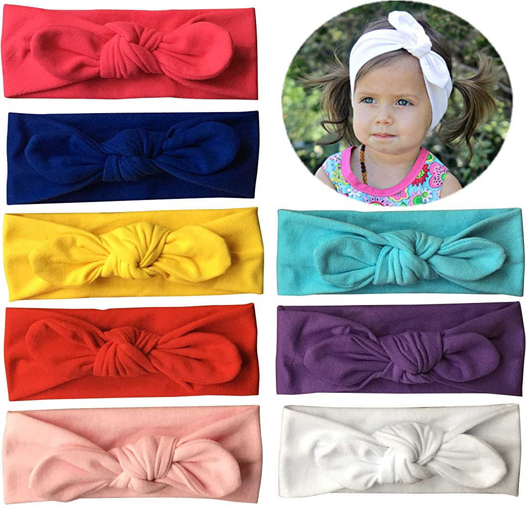 Newborn Baby Girls Headband Hairband Soft Elastic Headdress Bow Hair Accessories