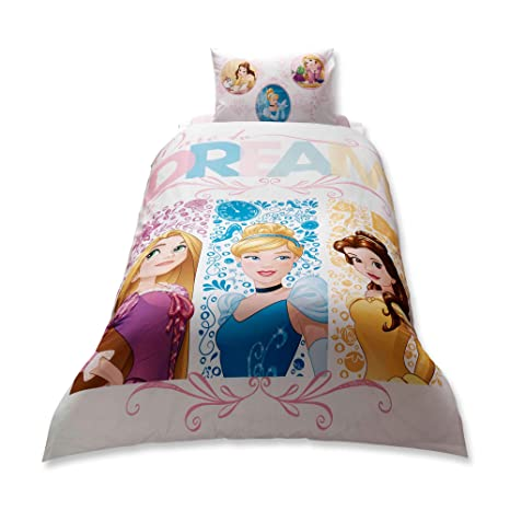 Copripiumino Dream Fun.Single Twin Kids Girls Original Disney Princess Dream 100 Cotton Duvet Quilt Comforter Cover Bedding Set 3 Pcs