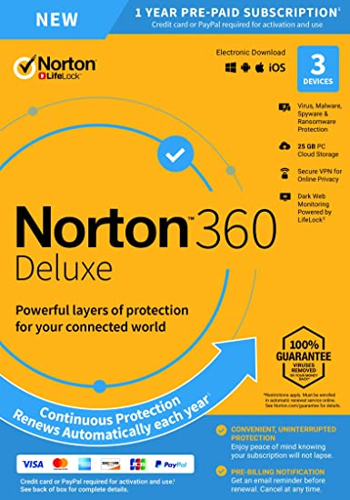 Amazon com: NEW Norton 360 Deluxe – Antivirus software for 3