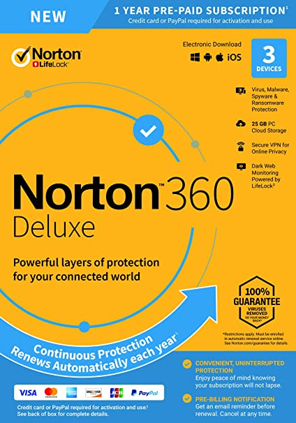 Amazon com: NEW Norton 360 Deluxe – Antivirus software for 3