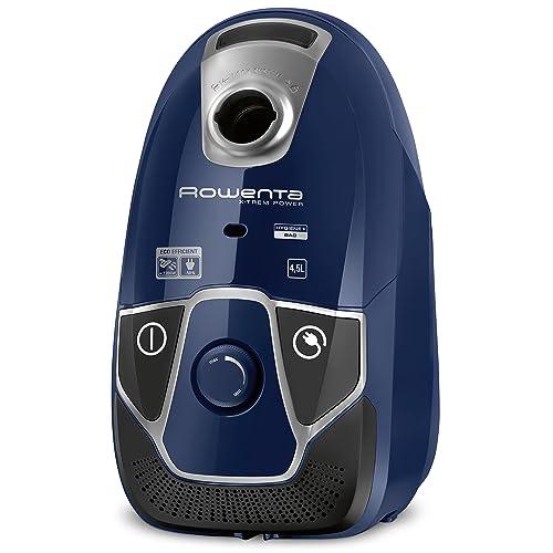 Rowenta RO6821EA Aspirateur avec Sac X-Trem Power 4,5L Efficacité Energétique A 750W Hygiène+ Bleu et Noir
