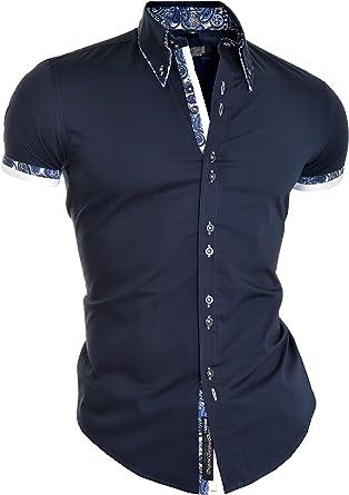 Camisa Elegante para Hombre Manga Corta Algodón Blanco de ...
