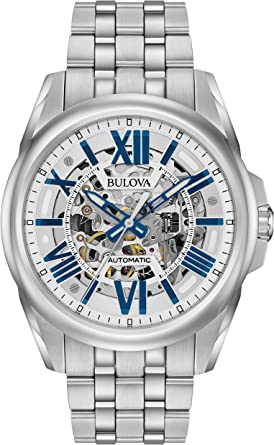Bulova Men's Mechanical-Hand-Wind Watch with Stainless-Steel Strap