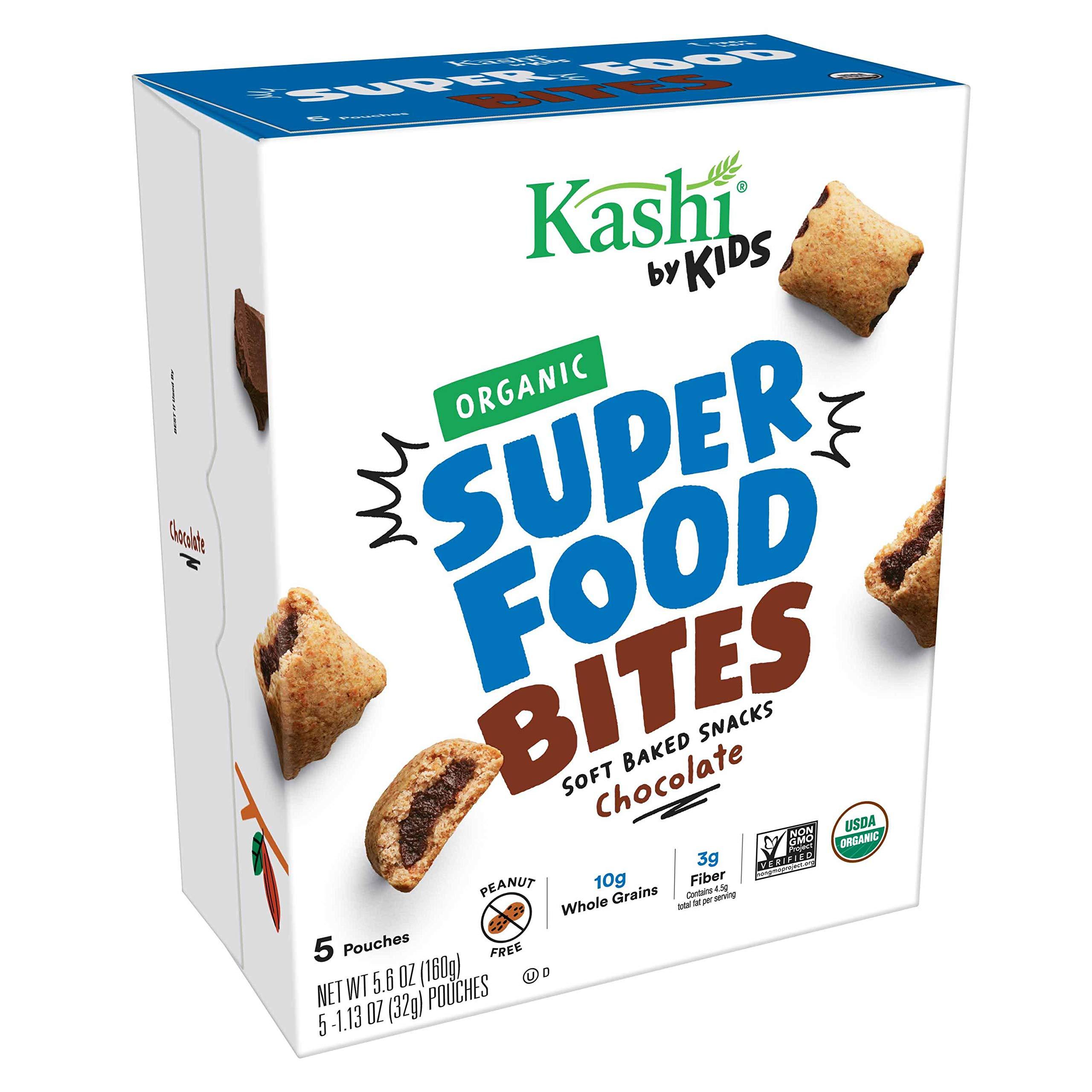 Kashi by Kids, Super Food Chocolate Bites, Soft Baked Organic Snacks, Fair Trade Cocoa, Peanut Free, 5.6oz