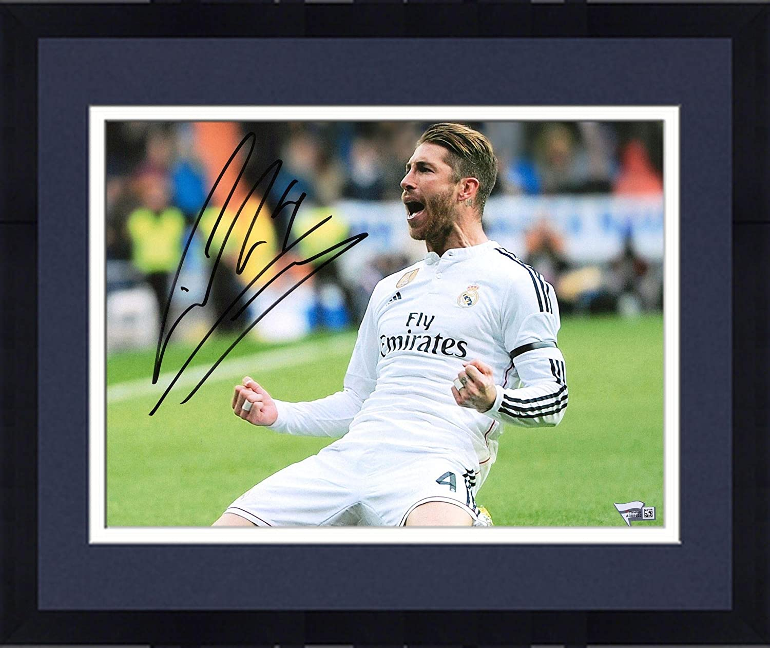 Framed Sergio Ramos Real Madrid Autographed 11' x 14' White Photograph - Fanatics Authentic Certified