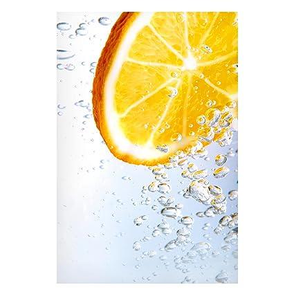 Pizarra magnética - Splash Naranja - Memo Board Alto metal ...