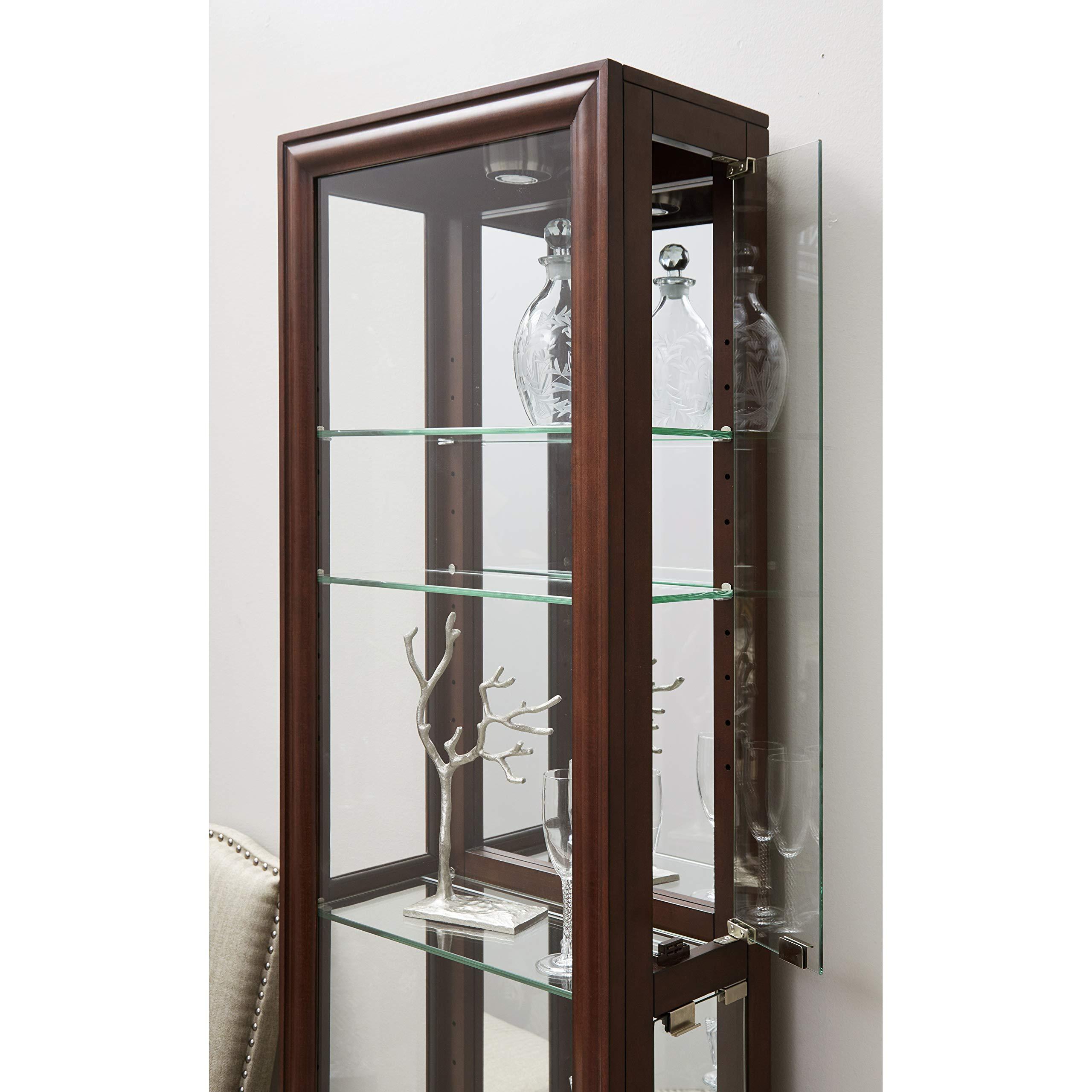 Pulaski  Side Entry Curio Display Cabinet, 21.0'' L x 11.0'' W x 77.0'' H, Cherry by Pulaski (Image #6)