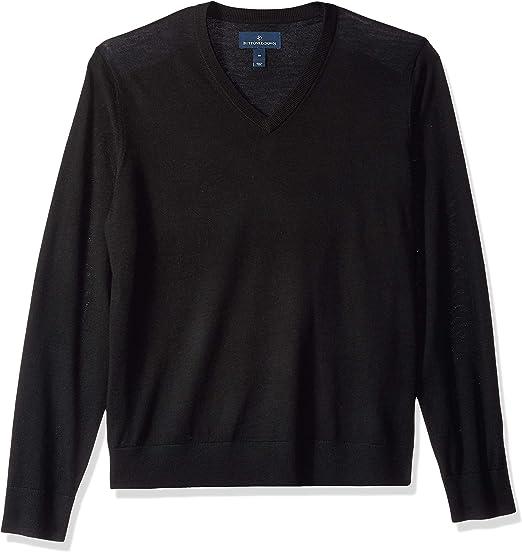 TALLA XS. Marca Amazon - Buttoned Down - Jersey ligero de lana merino italiana con cuello de pico para hombre