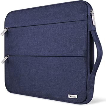 V Voova Laptop Sleeve 11-12 Inch with 2 Pockets Shockproof Carrying Computer Case Compatible with MacBook Air 11.6-inch,Surface Pro X 7 6,Samsung,HP,Asus,Chromebook Notebook Tablet Bag,Light Blue