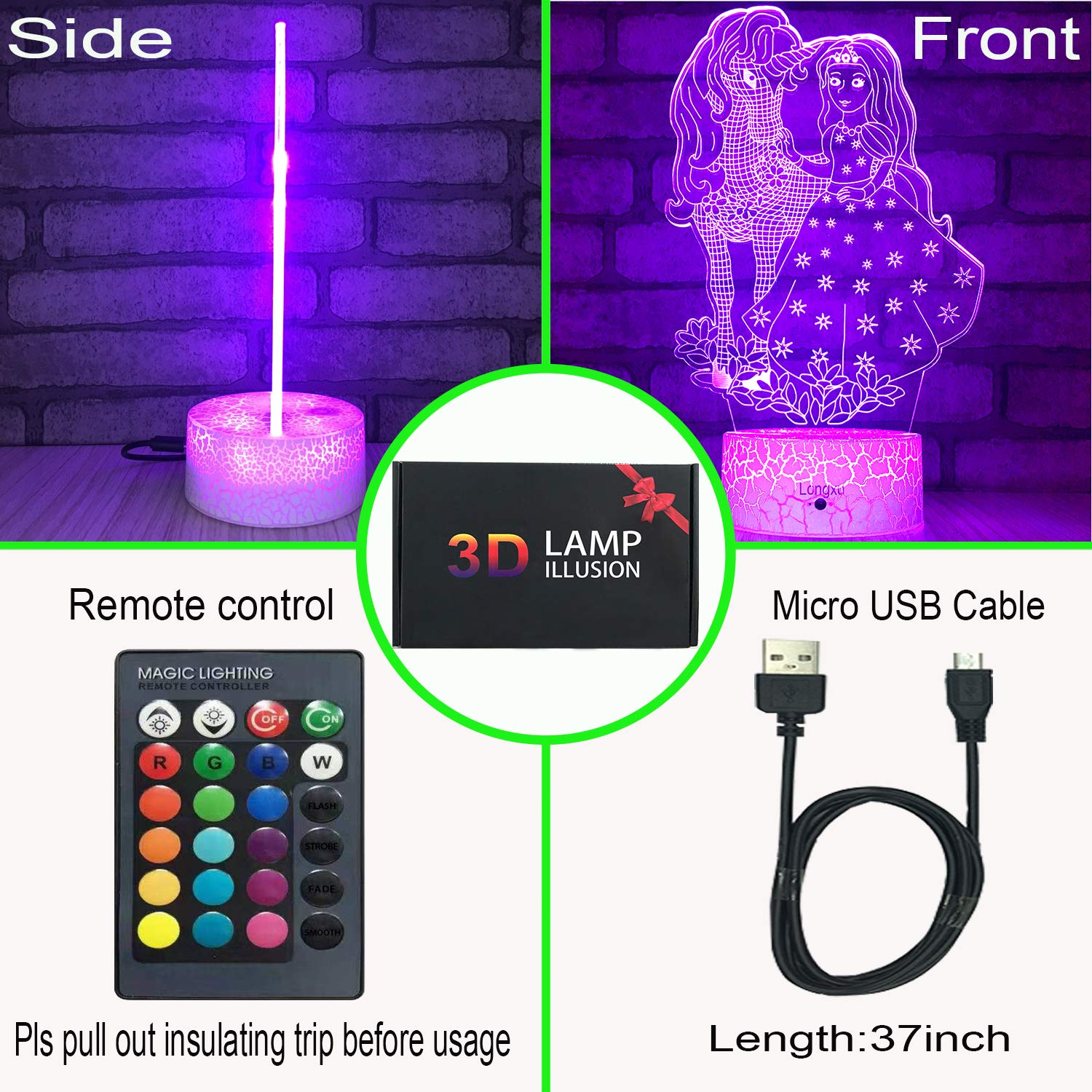Longxu Unicorn Gifts Night Lights for Kids with Remote /& Smart Touch 7 Colors 16 Colors Changing Dimmable Unicorn Toys 1 2 3 4 5 6 7 8 Year Old Girl Boys Gifts Perfect Unicorn
