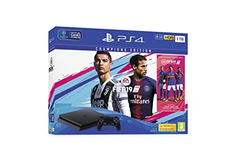 Sony PlayStation 4 1TB Console (Black) with FIFA 19 Champions