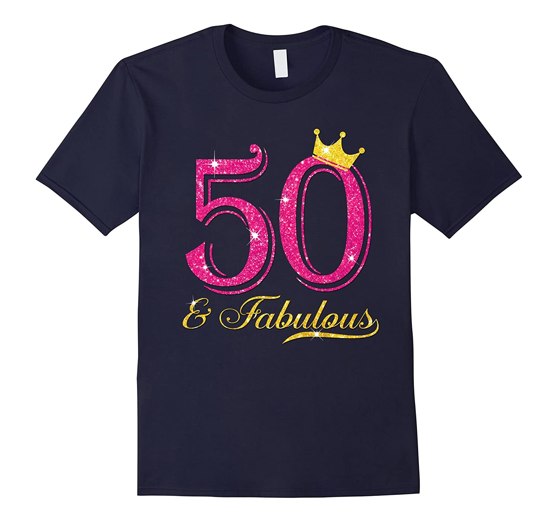 50th birthday women fabulous shirt-Vaci