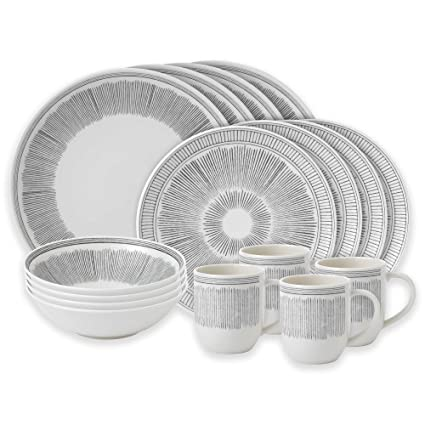 ED Ellen DeGeneres Beautifully Crafted by Royal Doulton Grey Lines 16-Piece Stoneware Dinnerware Set  sc 1 st  Amazon.com & Amazon.com | ED Ellen DeGeneres Beautifully Crafted by Royal Doulton ...