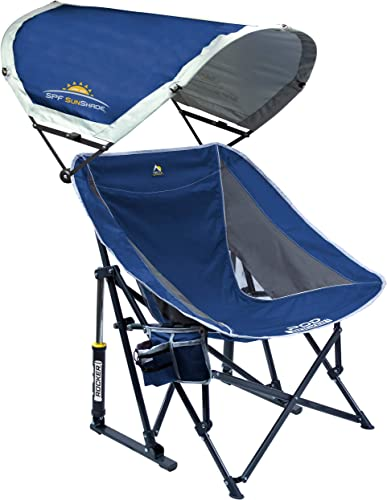 GCI Outdoor Pod Rocker Collapsible Rocking Chair with SunShade
