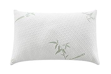 Alveo Premium calidad triturada de espuma con efecto memoria almohada con cremallera extraíble lavable suave fibra de bambú para - varios tamaños y diseño ...