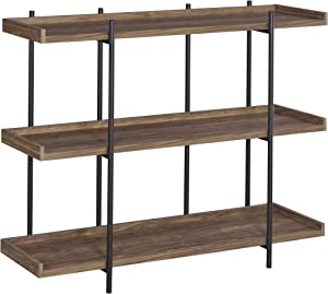 Coaster Home Furnishings Lawtey Industrial Aged Walnut and Black Bookcase 804293,