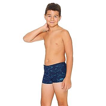fd358e368e Zoggs Boys' Sharkonator Hip Racer Swim Shorts/Trunks