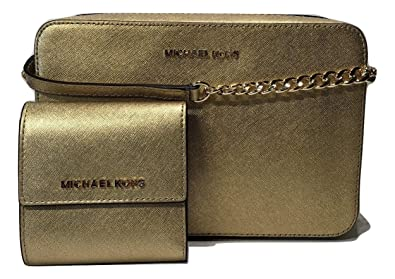 fc778ab95a54 MICHAEL Michael Kors Jet Set Item Large EW Crossbody bundle with Michael  Kors Jet Set Travel